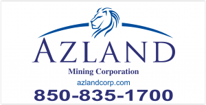 Azland Mining Logo and Phone number 850-835-1700