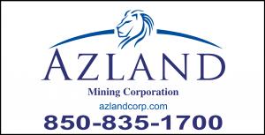 Azland Mining Logo and Phone number 850-835-1700